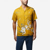 Blooming Short-Sleeve Vacation Shirt - Mustard