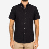 Portuguese Flannel - Blur Short-Sleeve Shirt - Black Fleck