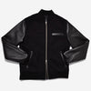 Bomber Leather Jacket - Black/Black