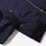 Outclass Attire - Water Repellent Bomber Jacket - Navy