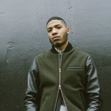 Outclass Attire - Bomber Jacket - Olive & Black