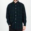 Portuguese Flannel - Bonfim Flannel Shirt - Navy & Green Blackwatch