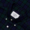 Portuguese Flannel - Bonfim Short-Sleeve Shirt - Navy & Green Blackwatch