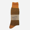 Anonymous Ism - Broken Stripe Crew Socks - Orange