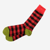 Buffalo Check Crew Socks - Red