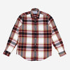 Burgundi Check Flannel Shirt - Burgundy/White