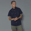 3Sixteen - Button-Down Short-Sleeve Shirt (BDS) - Navy Floral
