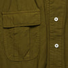House of St. Clair - Button Down Tunic - Olive Typewriter Cloth