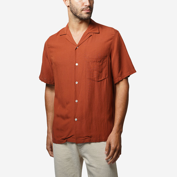 Catown Short-Sleeve Vacation Shirt - Terracota