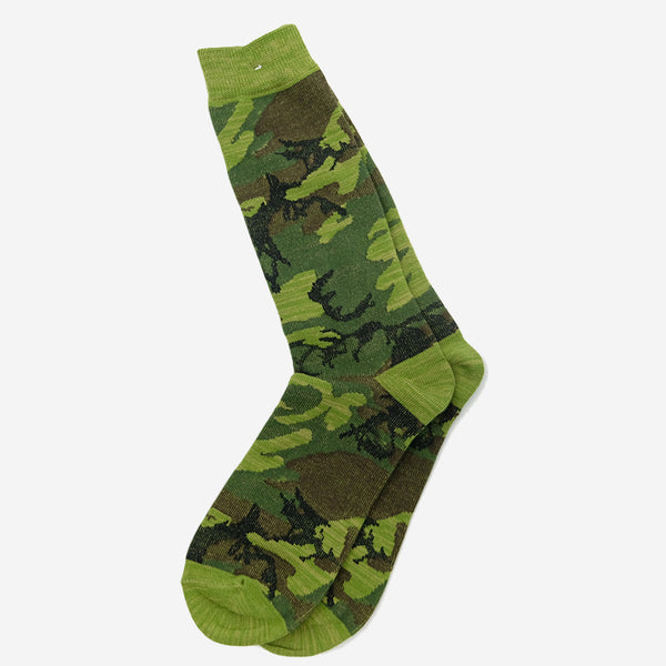 Anonymous Ism - Camo Crew Socks - Moss