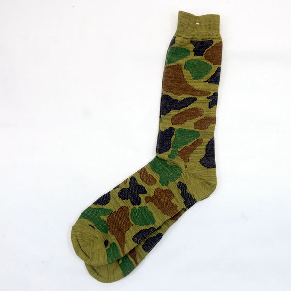Anonymous Ism - Camo Crew Socks - Army Green