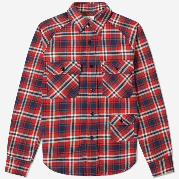 Battenwear - Camp Shirt - Flannel Red Plaid