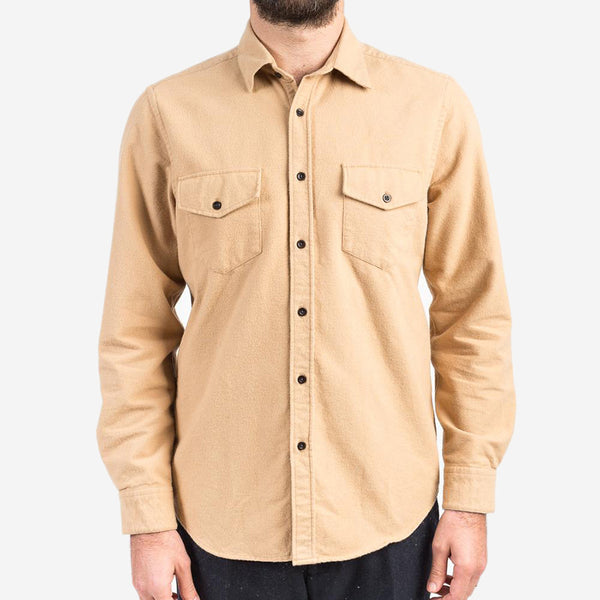 Portuguese Flannel - Campo Field Flannel Overshirt - Camel