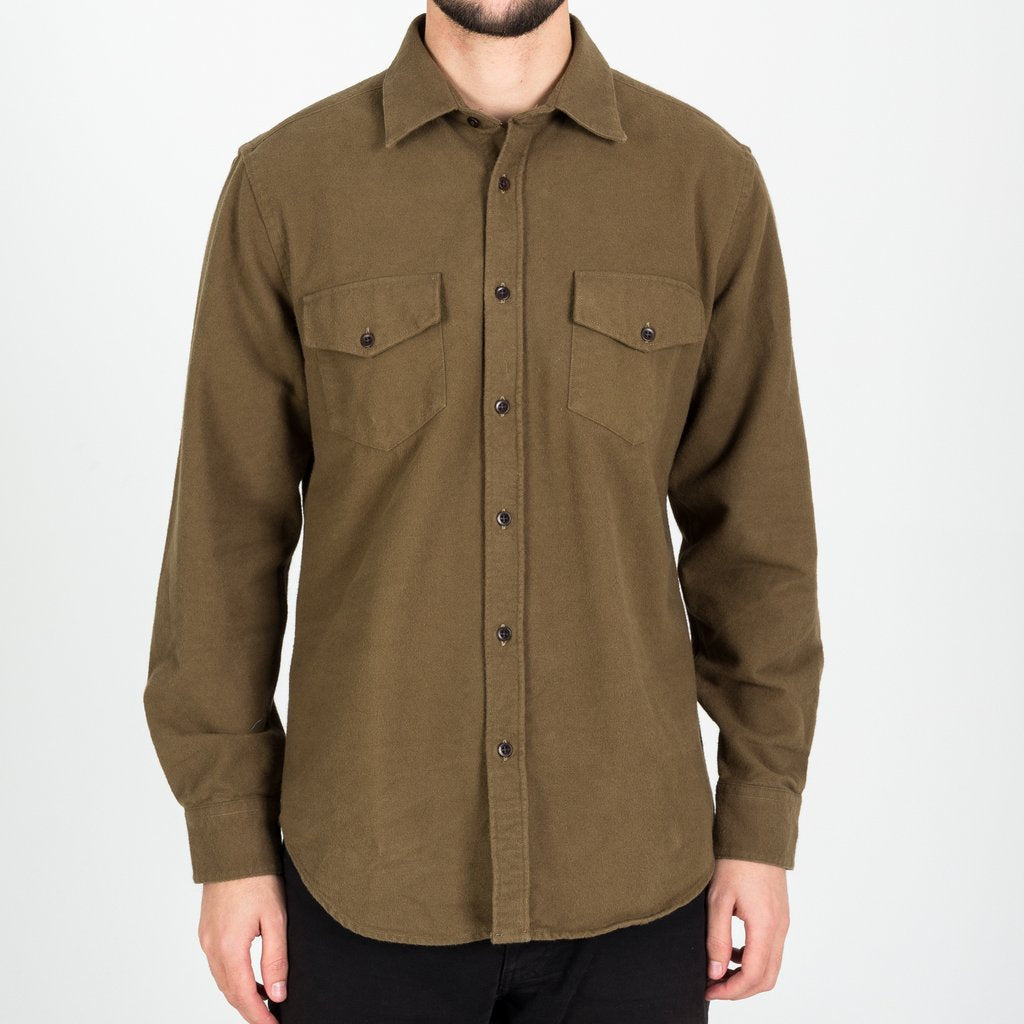 Campo (Field) Flannel Overshirt - Olive