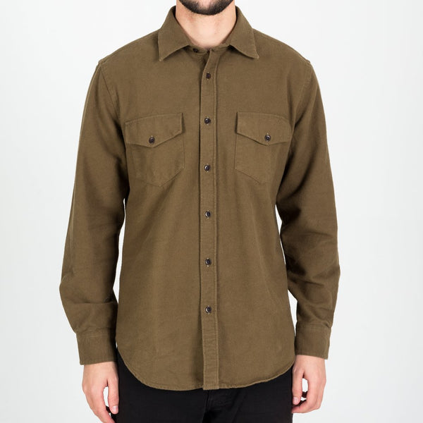Portuguese Flannel - Campo (Field) Flannel Overshirt - Olive