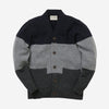 Lambswool Cardigan 3 Stripe - Charcoal/Grey Mix/Navy