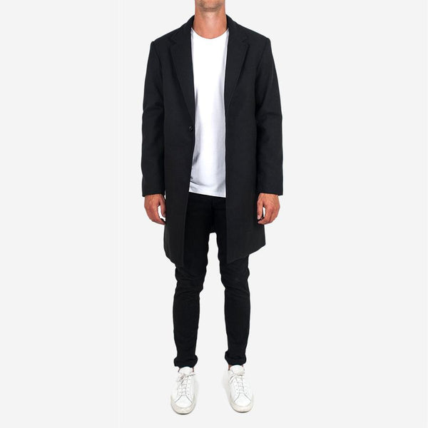 Dangerfield - Cashmere/Wool Overcoat - Black