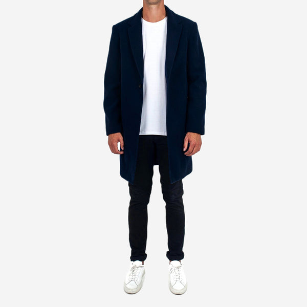 Dangerfield - Cashmere/Wool Overcoat - Navy