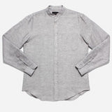 Outclass Attire - Chambray Long-Sleeve Shirt - Taupe Linen