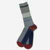 Anonymous Ism - Chestnut Jacquard (JQ) Crew Socks - Navy/Grey