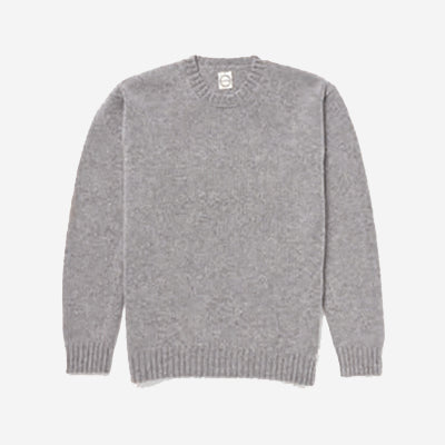 Country Of Origin - Chordata Lambswool Sweater - Light Grey
