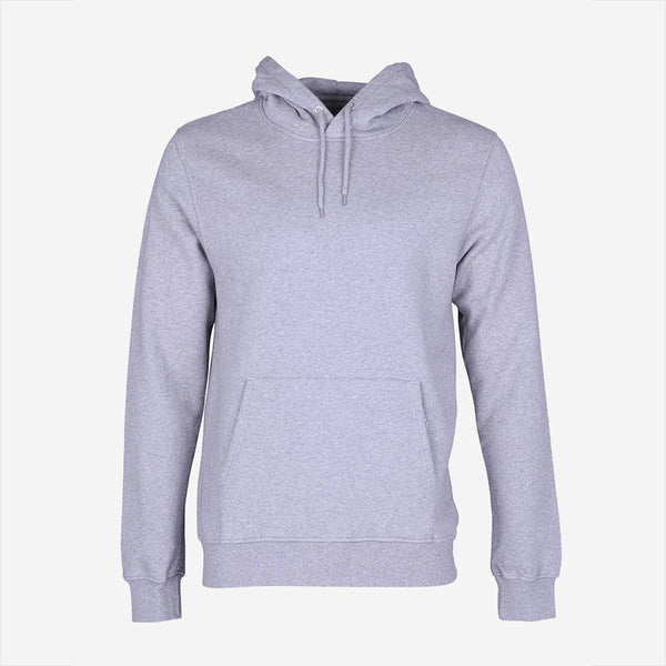 Colorful Standard - Classic Organic Crew Hoodie - Heather Grey