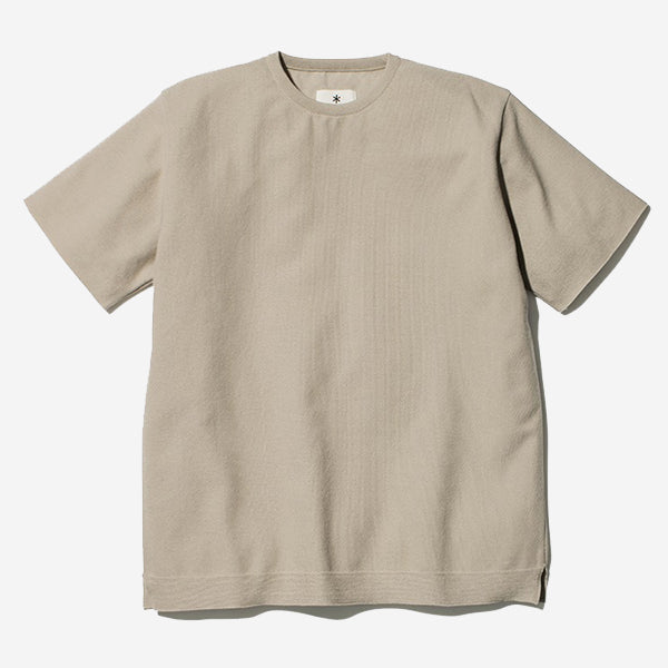 Co/Pe Dry Pullover Knit T-Shirt - Beige