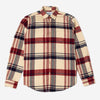 Portuguese Flannel - Coachella Check Flannel Shirt - Cream/Red