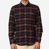 Portuguese Flannel - Compact Plaid Flannel Shirt - Purple/Black