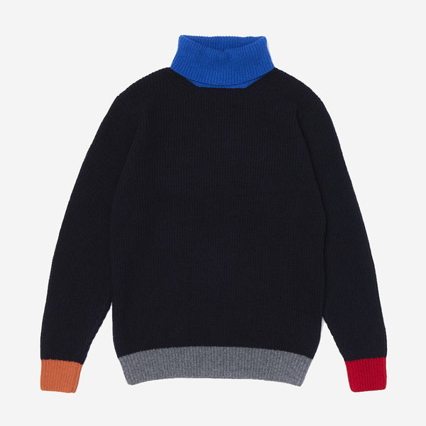 Contra Polo Lambswool Turtleneck - Navy