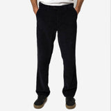 Portuguese Flannel - Relaxed Tapered Corduroy Trousers - Black