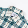Portuguese Flannel - Creek Flannel Shirt - Cream/Turquoise