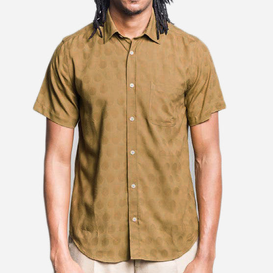 Portuguese Flannel - Creoula Short-Sleeve Shirt - Olive