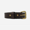 Apogee Goods - Daily 11oz Leather Belt - Brown/Brass