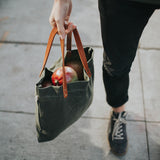 Apogee Goods - Daily Tote - Waxed Olive Green (MG Exclusive)