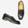Dalior Leather Loafer Shoes - Black