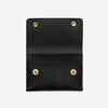 Short Double Snap Wallet - Black