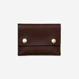 Short Double Snap Wallet - Brown