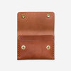 Short Double Snap Wallet - Tan
