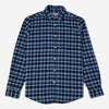 Portuguese Flannel - Double Check Flannel Shirt - Blue