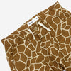 Drawstring Fatigue Shorts - Giraffe Camo Print