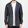 Portuguese Flannel - Dupla Reversible Flannel Shirt - Navy/Black Melange