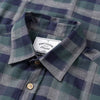 Portuguese Flannel - Embossed Check Flannel Shirt - Grey/Green