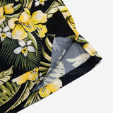 Five Pocket Island Shirt - Black Floral