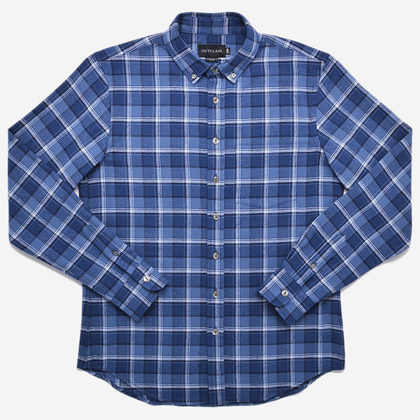 Outclass Attire - Flannel Shirt - Blue Alaska Plaid