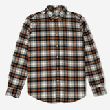 Portuguese Flannel - Flashlight Plaid Flannel Shirt - Grey/Orange
