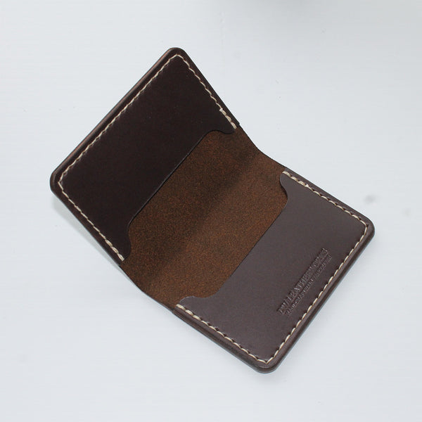 DW Leatherworks - Folded Card Wallet (3 slots) - Brown