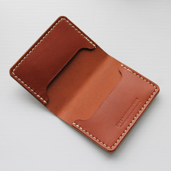 DW Leatherworks - Folded Card Wallet (3 slots) - Chestnut