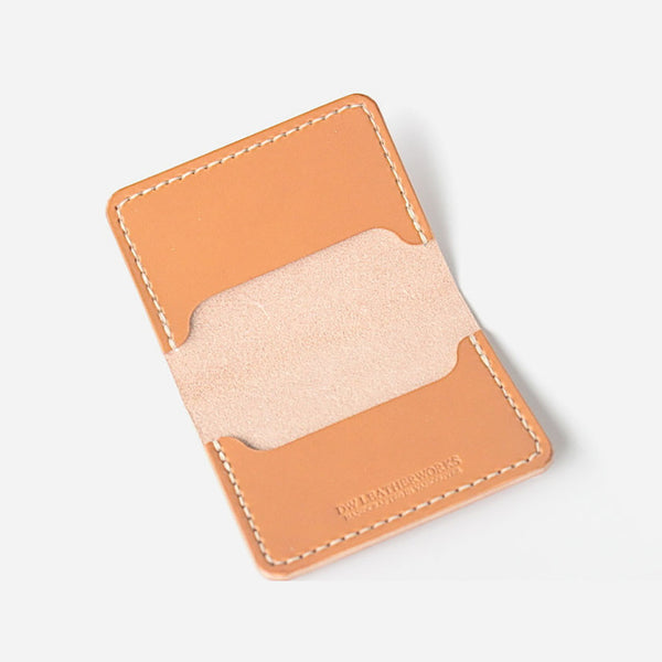 DW Leatherworks - Folded Card Wallet (3 slots) - Tan