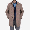 Gabardine Reversible Mac Coat - Beige/Houndstooth